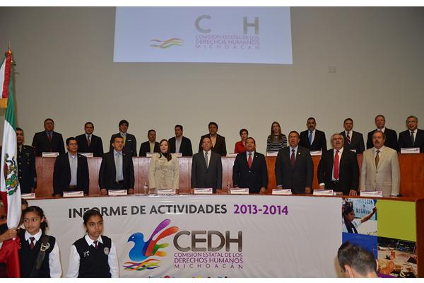 Poder Judicial de Michoacán presente en informe de actividades de la Comisión Estatal de Derechos Humanos