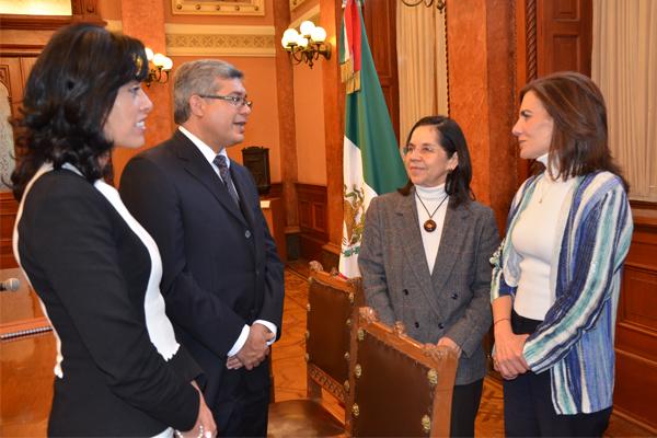 Directora de Servicio Postal Mexicano recibe al presidente de Poder Judicial de Michoacán