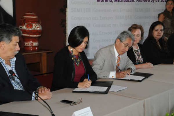Atestigua Poder Judicial de Michoacán firma de convenio en beneficio de mujeres michoacanas