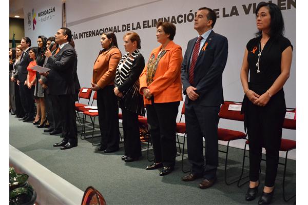 Autoridades estatales conmemoran Día Internacional de la Eliminación de la Violencia Contra la Mujer