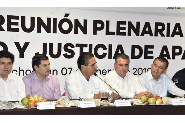 Poder Judicial de Michoacán presente en la Mesa de seguridad y justicia de Apatzingán