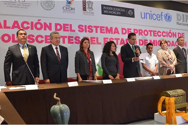Autoridades de los tres niveles de gobierno instalan Sistema de protección para niñas, niños y adolescentes en Michoacán