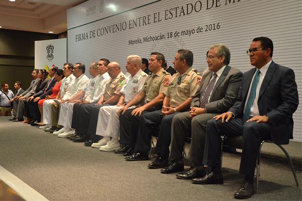 Poder Judicial de Michoacán presente en la firma de convenio entre la Secretaría de Marina y el Estado de Michoacán