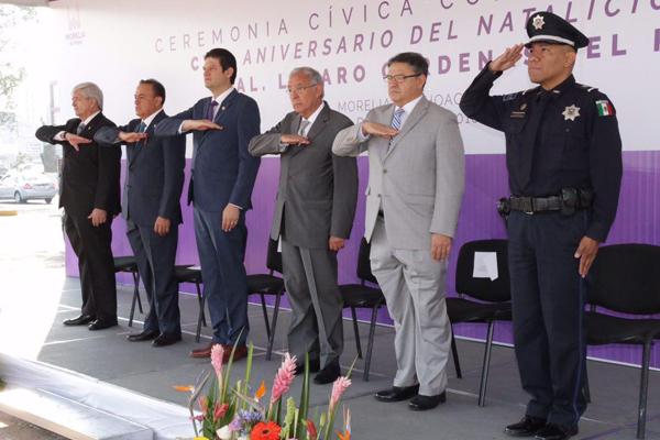 Autoridades estatales recuerdan el CXXI aniversario del natalicio de Lázaro Cárdenas del Río