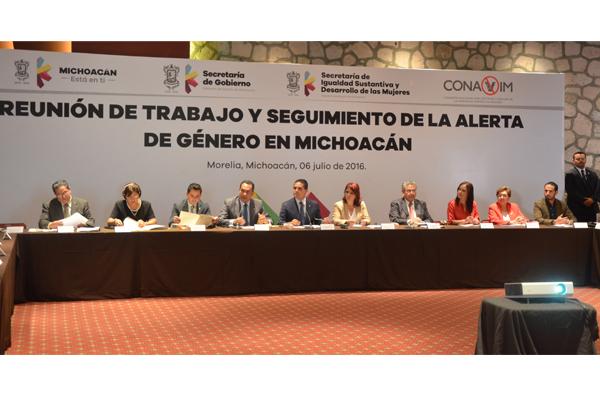 Participa Poder Judicial de Michoacán en reunión de seguimiento de la alerta de género