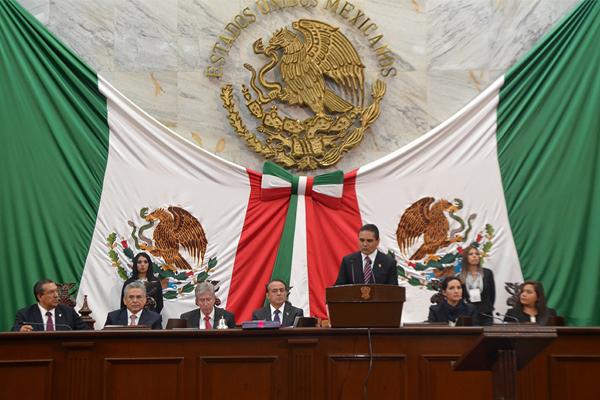 Poder Judicial de Michoacán presente en el primer informe de gobierno de Silvano Aureoles Conejo