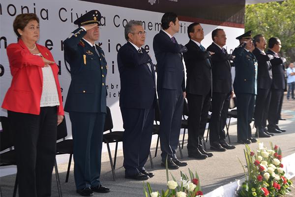 Autoridades estatales recuerdan el inicio de la Independencia de México