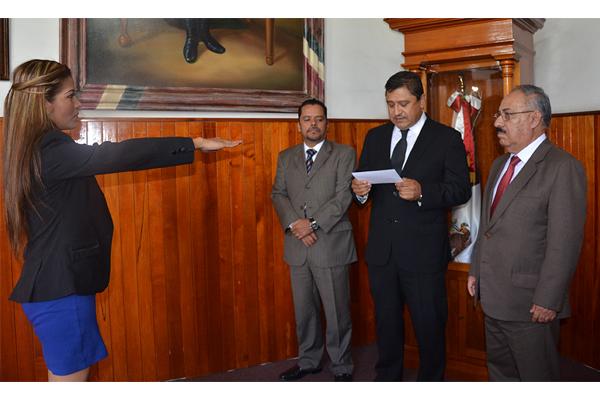 Consejo del Poder Judicial de Michoacán toma protesta a jueza del Juzgado Menor de Zinapécuaro
