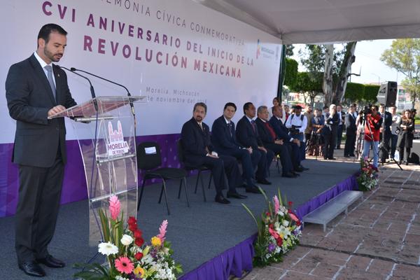 PJM presente en acto cívico con motivo del aniversario de la Revolución Mexicana