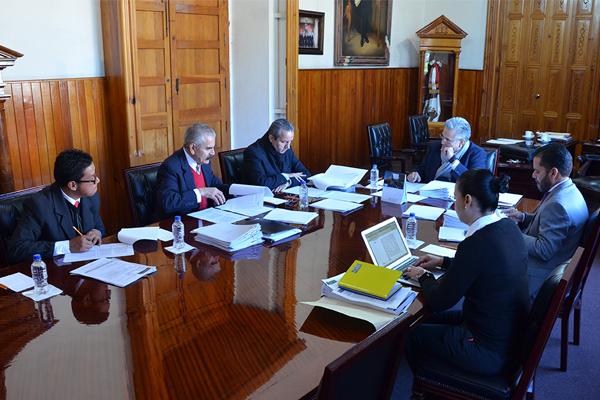 Comisión de Administración realiza sesión en el Palacio de Justicia del Centro Histórico