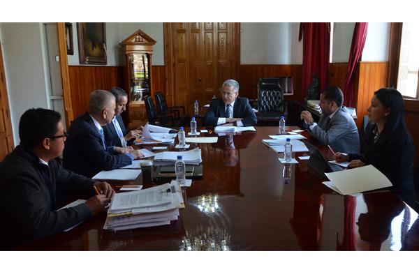 Palacio de Justicia del Centro Histórico, sede de la sesión de la Comisión de Administración del Consejo