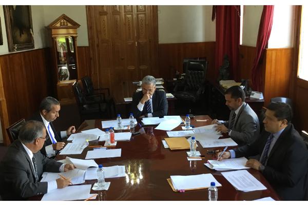 Sesiona pleno del Consejo del Poder Judicial de Michoacán