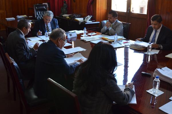 Se reúnen en sesión de pleno, el Consejo del Poder Judicial de Michoacán