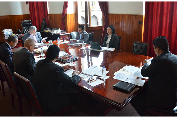 En sesión ordinaria, Comisión de Administración del Poder Judicial analiza temas financieros y administrativos