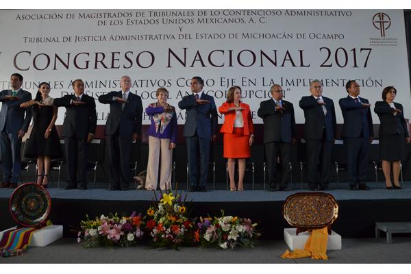 Poder Judicial de Michoacán presente en Congreso Nacional de Tribunales Administrativos del país