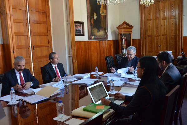Sesiona Comisión de Administración del Consejo del Poder Judicial de Michoacán