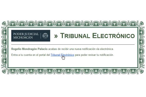 A través del Tribunal Electrónico, abogados litigantes reciben notificaciones de asuntos civiles