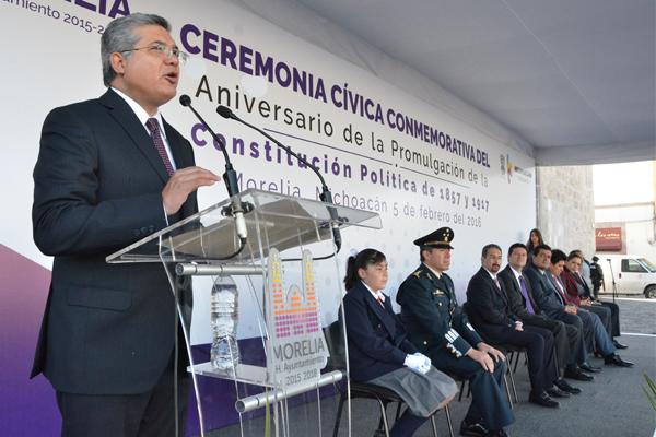 Materializar en sus artículos los derechos humanos es una de las aportaciones más importantes de la Carga Magna, afirma el magistrado presidente