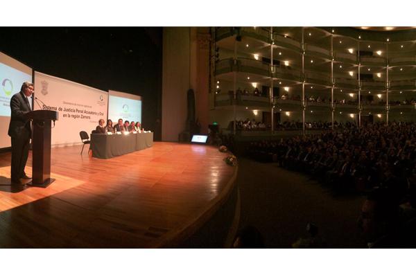 Autoridades de los tres órdenes de gobierno estuvieron presentes en el inicio de vigencia del Nuevo sistema de justicia penal en la región Zamora