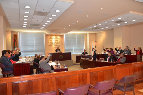 En esta sesión se aprobaron dos proyectos y se turnaron seis, los cuales pueden consultarse en la página web de la institución