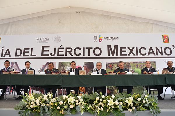 Poder Judicial de Michoacán presente en la conmemoración del Día del Ejército Mexicano