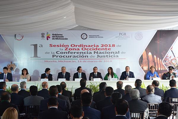 Autoridades de los tres niveles de gobierno asisten a la Conferencia Nacional de Procuración de Justicia, región Occidente