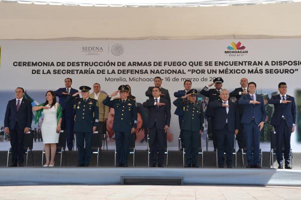 """Poder Judicial de Michoacán presente en el acto """"Por un México más seguro"""""""