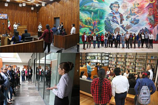 Alumnado de la Universidad de Durango recorre espacios de la Ciudad Judicial