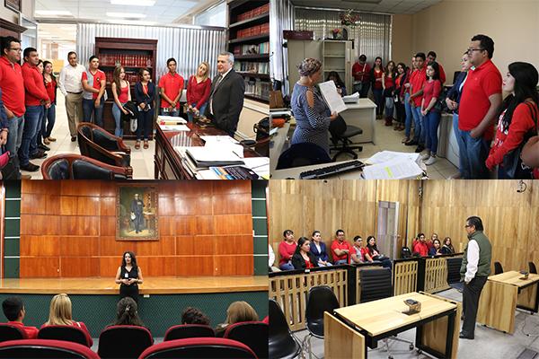 Universidad CEUMA conoce sobre la impartición de justicia en visita guiada con charlas por parte de servidores públicos del PJM