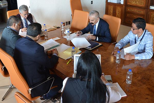 Consejeros de la Comisión de Administración sesionan en el Palacio de Justicia José María Morelos
