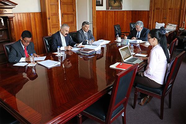 En Presidencia del Palacio de Justicia del Centro Histórico se lleva a cabo sesión de Comisión de Administración