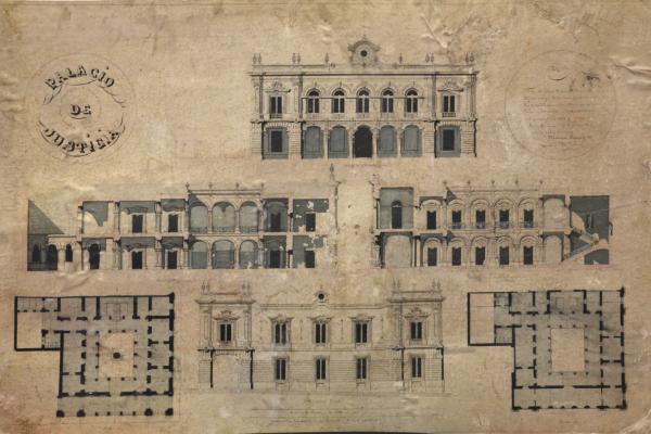 Plano original del Palacio de Justicia del Centro Histórico