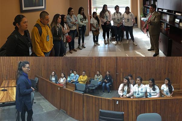 El Poder Judicial de Michoacán recibe en segunda visita a alumnado del Instituto Blas Pascal
