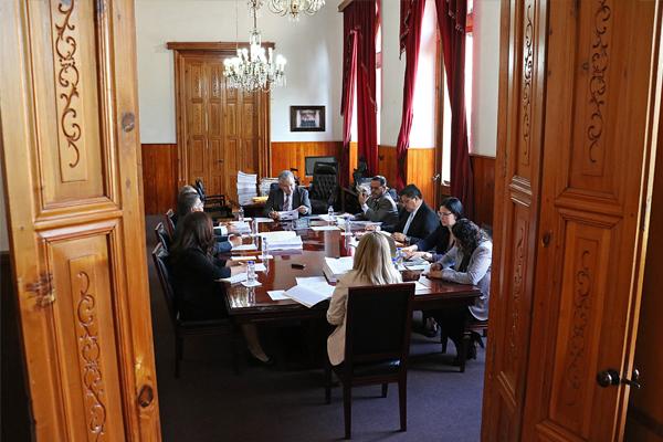 Consejeros realizan sesión ordinaria del máximo órgano administrativo del Poder Judicial de Michoacán