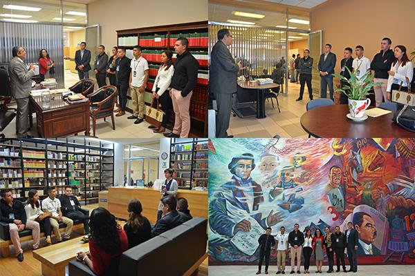 Instituto Universitario Puebla con sede en Morelia conoce el Poder Judicial de Michoacán