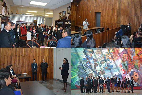 Servidoras y servidores públicos del Poder Judicial de Michoacán reciben a alumnado de la UMSNH con sede en Lázaro Cárdenas