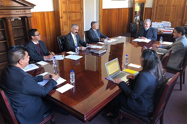 Integrantes del Comité de Adquisiciones del Poder Judicial de Michoacán realizan sesión ordinaria