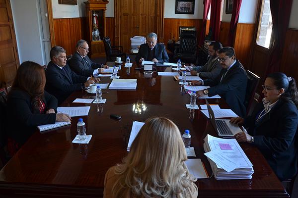 Consejo del Poder Judicial se reúne en pleno y realiza sesión ordinaria