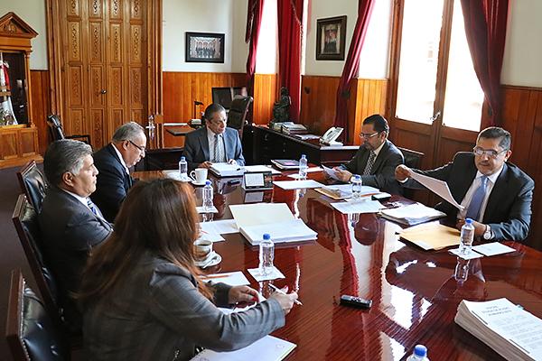 En Presidencia del Palacio de Justicia del Centro Histórico se desarrolla sesión ordinaria de Consejo