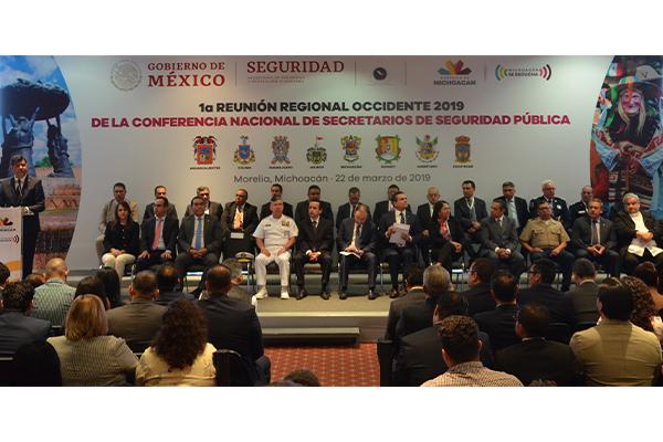 Autoridades de los tres órdenes de gobierno inauguran la Conferencia Nacional de Secretarios de Seguridad Pública, región occidente