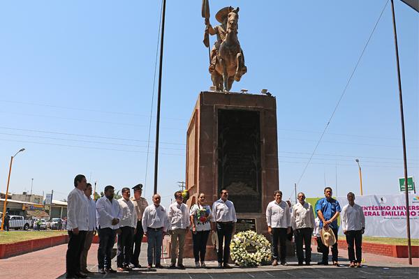 Poder Judicial de Michoacán, presente en el Centésimo Aniversario Luctuoso del General Emiliano Zapata Salazar