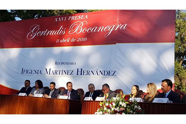 Poder Judicial de Michoacán presente en la entrega de la Presa Gertrudiz Bocanegra