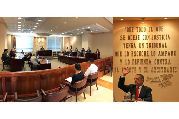 Magistradas y magistrados del Supremo Tribunal de Justicia del Estado realizan sesión ordinaria de pleno