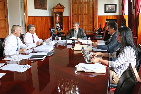 Palacio de Justicia del Centro Histórico, sede de la sesión de la Comisión de Administración