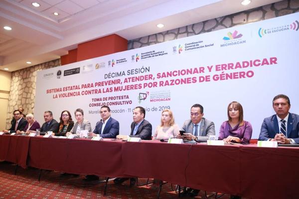 Poder Judicial de Michoacán, presente en Sesión del Sistema para Prevenir, Atender, Sancionar y Erradicar la Violencia contra las Mujeres por Razones de Género