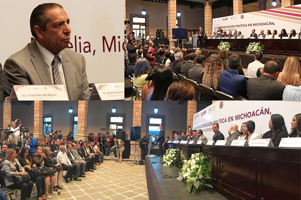 Poder Judicial de Michoacán presente en la inauguración del foro Representación Política en Michoacán