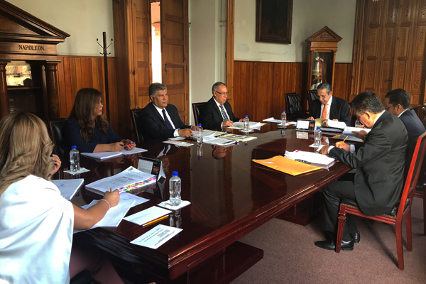 Consejeros realizan sesión ordinaria de pleno en el Palacio de Justicia del Centro Histórico