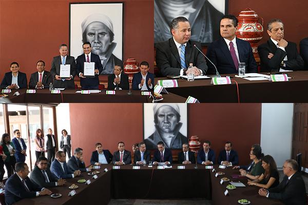 Poder Judicial de Michoacán presente en la firma de convenio entre el Gobierno del Estado y la Unidad de Inteligencia Financiera