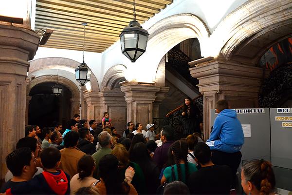 Noche de leyendas en el Palacio de Justicia del Centro Histórico