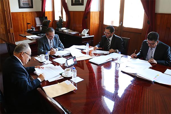 Integrantes del Consejo del Poder Judicial de Michoacán realizan sesión ordinaria